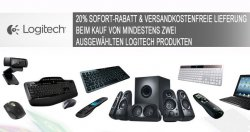 20% Rabatt ab 2 Logitech Produkten + kostenlosen Versand @notebooksbilliger.de