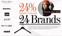 24% Rabatt auf 24 Marken wie Adidas, Diesel, Lee etc. + 10 € NL-Gutschein bei dress-for-less.de