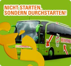 50% Rabatt auf alle Fahrten mit Meinfernbus.de