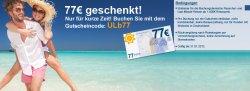 77€-Gutschein für Urlaub.de (MBW: 1000 €)