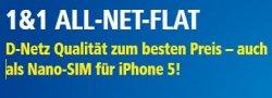 AllNet Flat im Vodafone Netz für 19.99 / 29,99 / 39,99€ von 1&1