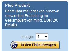 Amazon Plus Programm – niedrigpreisige Artikel ab einem Gesamtbestellwert von 20 Euro
