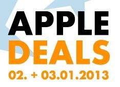 Apple Deals vom 2.01 – 3.01.2013 @euronics.de
