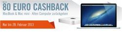 Apple-Schnäppchen bei Cyberport: 80€ Cashback auf MacBook und 50 € Cashback auf Mac Mini