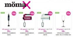 Ausverkauf bei Mömax –  viele reduzierte Haushaltsgeräte von z.B. DeLonghi oder Kennwood bis zu 80% reduziert