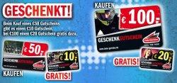 Geschenkgutscheine gratis bei Hein-Gericke ab einem Bestellwert von 50 EUR