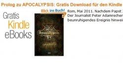 Gratis eBook Apocalypsis 1.0 (DEU): Zeichen. Thriller, mit Werbevideo
