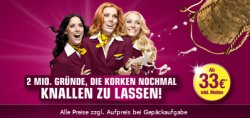 In- und Auslandsflüge ab 33€ @ germanwings