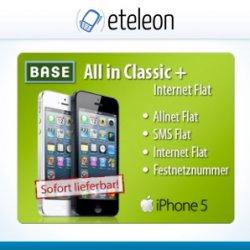 iPhone 5 32GB für 0€ mit BASE Vertrag(24x 45,-€) @eteleon_ebay