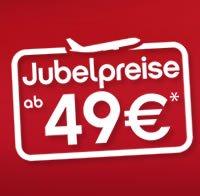 JUBELPREISE bei Airberlin: Tickets ab 49€ inkl. Steuern und Gebühren