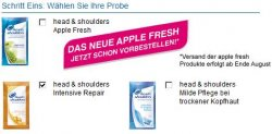 Kostenlose Produktprobe: HEAD & SHOULDERS Shampoo