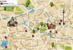 Kostenlose Stadtkarten mit eigenen Markierungen bei KLM — z.B. Amsterdam,Hamburg, London,Berlin,Bankgok