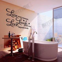 LIVE LAUGH LOVE Wandtattoo für 3,59€ portofrei @eBay