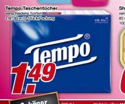 "[Lokal @Edeka ab 7. Januar] ""Tempo"" Taschentücher 30 x 10 Stück. 1,49€ statt 2,69€"