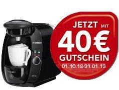 @Saturn – Tagesangebot: Bosch Tassimo für 39€ und 40€ Guthaben für den Tassimo Onlineshop
