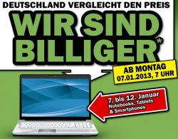 Media-Markt kontert Idealo.de Preise für Notebooks, Tablets & Smartphones vom 7. bis 12. Januar