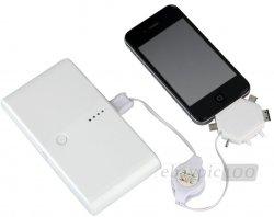Mobiles USB-Ladegerät/ externe Akku Power + Ladekabel für iphone 5/4