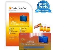 Office 2010 Professional 32/64bit PKC Vollversion mit GRATIS UPGRADE auf 2013 für nur €159,-