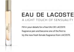Parfüm Probe von Lacoste @Lacoste Facebook-Fanpage