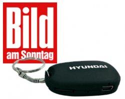 """Probeabo 11x """"Bild am Sonntag"""" + Zugabe """"Action Cam – Mini Cam Mc 1010″ von Hyundai"""