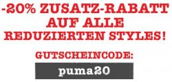Puma Sale mit 50% Rabatten + weitere 20% Rabatt @ puma.de