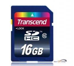 Transcend 16GB SDHC Class 10 Karte für nur 10,99EUR inkl. Versand @eBay
