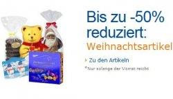 Weihnachtsartikel bis zu -50% reduziert, z.B. Niederegger Marzipan oder Lindt @Amazon.de