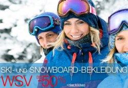 WSV bei Amazon bis -50% auf Ski- und Snowboardbekleidung von Eisbär, Killtec und mehr