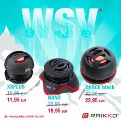 WSV bei RAIKKO – 3 Vacuum Speaker Modelle mit ca. 30% Ersparnis @Amazon
