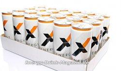 48 Dosen EnergyX Drink zum Preis von 24 Dosen