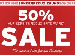 50% Extrarabatt auf bereits reduzierte Artikel @Ernstings-Family.de