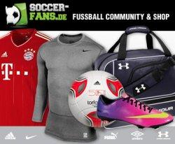 60€ Soccer-Fans.de-Gutschein für 24,99€ oder 40€ Gutschein für 14,99€ bei Dailydeal