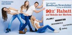 90% HoodBoyz Gutschein für die Schuh-Marken Clay Shoes, Hood Star, Hoodboyz, Fubu und Starbury