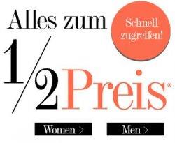 Dress for less- Alles zum ½ Preis – kurzer Monat, kleine Preise!