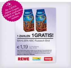 [Gutschein] Bahlsen ABC Russisch Brot 2 für 1 – 1,19€ @ REWE / Toom