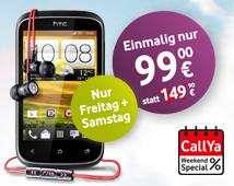 Vodafone Countdown: HTC Desire C inkl. Beats-Audio Headset – mit CallYa Smartphone Fun S ohne Vertrag für nur 99€