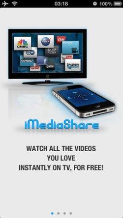 [iOS] iMediaShare – Video on TV für iPhone/iPod/iPad gratis statt 4,49€