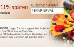 Karneval @Buch.de – 11 Prozent Gutscheinaktion bis 11.02.13 – ohne Mindesbestellwert !!!
