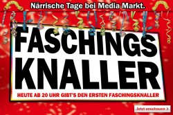 Närrischen Tage!! ab 20Uhr Faschingsknaller bei Media Markt, heute iPhone5