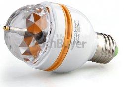 Nur 8,49€ LED Leuchtmittel mit rotierenden Lichteffekten – Reagiert akustich inkl. Versand @eBay