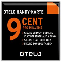 O.tel.O Prepaid Simkarte mit 5,00 € Startguthaben für 2,45 € inkl. Versandkosten! @ebay