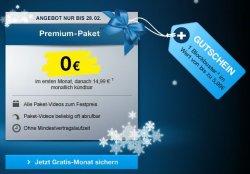 Premium-Paket von maxdome einen Monat gratis testen