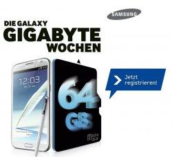 Samsung Galaxy Gerät kaufen und gratis Speicherkarte (4/8/16/32/64GB) bekommen.