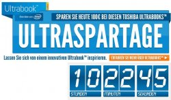 Ultrabook Spartage bei notebooksbilliger, 13 Tage lang 100 EUR Rabatt auf Ultrabooks versch. Hersteller