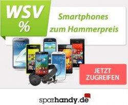 Winterschlussverkauf bei Sparhandy.de mit All-NetFlats, z.B. das Samsung Galaxy S3 für 31 € mtl. + 69 € Zuzahlung oder das iPhone 5 für 35 € mtl. + 99 € Zuzahlung