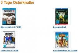 3 Tage Osterknaller beim Amazon –  Blu-rays für 7,97 Euro, DVD´s ab 4,97, 3 Kinderfilme für 18 usw.