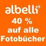 40% Gutschein für Albelli für alle Fotobücher