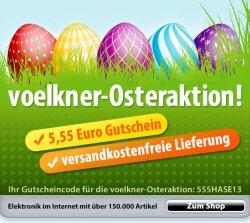 5,55€ Gutschein und versandkostenfrei bei Voelkner bestellen – Osteraktion