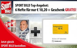 6 Ausgaben Sportbild für 10,20€ +10€ JET Tankgutschein @Lesershop24
