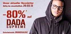 80% Rabatt auf die Damen und Herren-Kleidung von DADA SUPREME @Hoodboyz.de